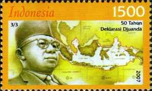 perangko edisi peringatan deklarasi juanda alias hari nusantara